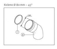 odkouření Protherm koleno 80 mm/45° - plyn. TURBO kotle