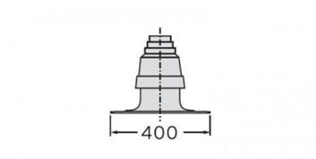 Vaillant odkouření kryt komína, šachty 80/125 (303963)
