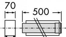Vaillant odkouření prodlužovací kus 0,5 m 80/125 (303202)