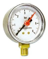 IVAR.MR 50 manometr radiální 50 mm - 0-6 bar