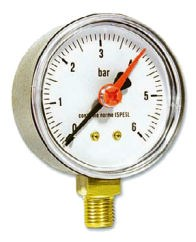 IVAR.MR 50 manometr radiální 50 mm - 0-10 bar