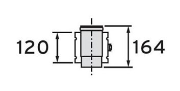 Vaillant odkouření oddělovací prvek 80/125 (303215)