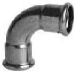 měděná press plyn. tvarovka PG10002 oblouk 90° 15 ixi