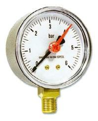 IVAR.MR 63 manometr radiální 63 mm - 0-2,5 bar