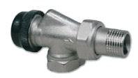 IVAR - termostatický dvouregulační ventil axiální IVAR.VCR 2136 N s přednastavením