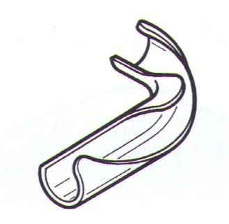 Rehau vodící oblouk 90° - 16/17 mm