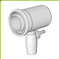 odkouření Brilon - Přímý T-kus s odvodem kondenzátu DN 160/110 mm