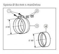 odkouření Protherm spona 80 mm a manžeta (SP2)