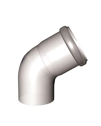 odkouření kondenzační - koleno 60° DN 80 mm, Almeva STARR