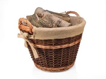 Koš na seno a dřevo proutěný s vyjímatelnou vložkou