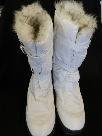 Bílé dámské sněhule- kozačky vel 41