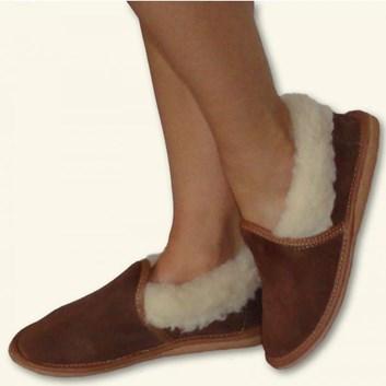 Dámské teplé bačkory pantofle s patou