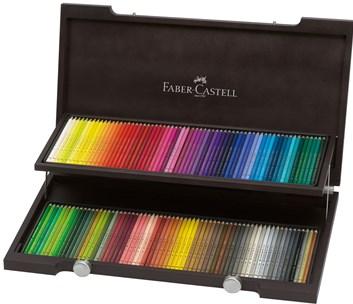 Faber Castell Polychromos 120 ks, dřevěná dárková kazeta