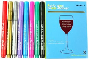 Party popisovač sklenic, různé barvy
