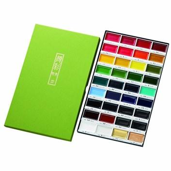 Akvarelové barvy Gansai Tambi,  36 ks, Kuretake